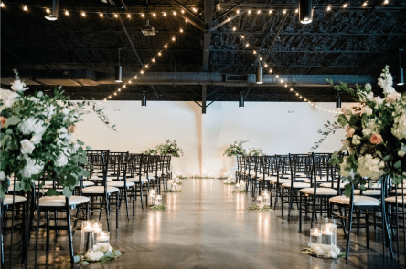 Ceremony for 130 people